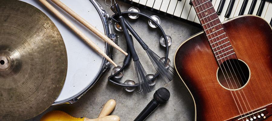 Vente d'instruments et matériel de musique